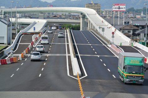 松山自動車道 松山インターチェンジ工事