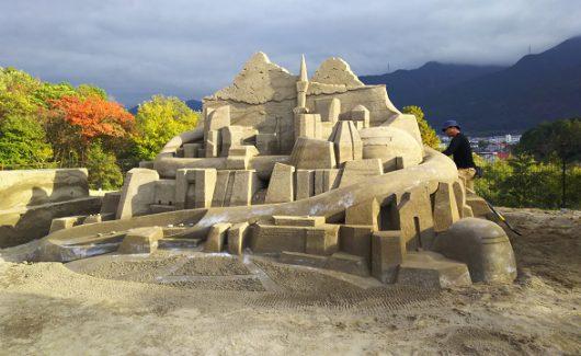 砂で街を@白石建設工業