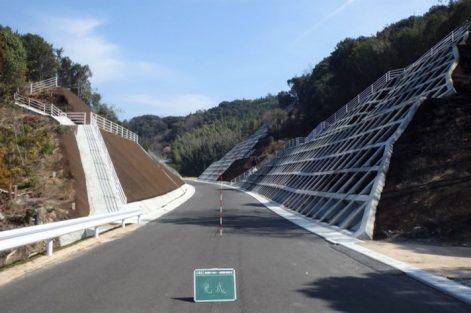 離交道改第160号の21 (一)岩城弓削線 道路改築工事