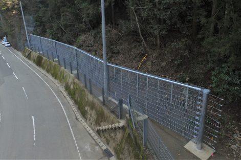 防補交防第4号の8(一)落合久万線 道路災害防除工事